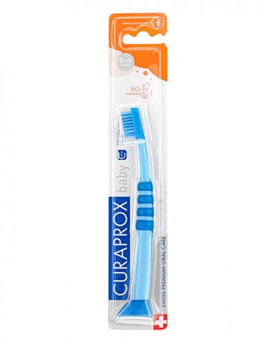Baby-tandbørste blå-blå